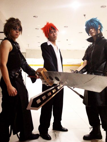 Final Fantasy Cloud,Reno and Noctics Cosplay Fotos