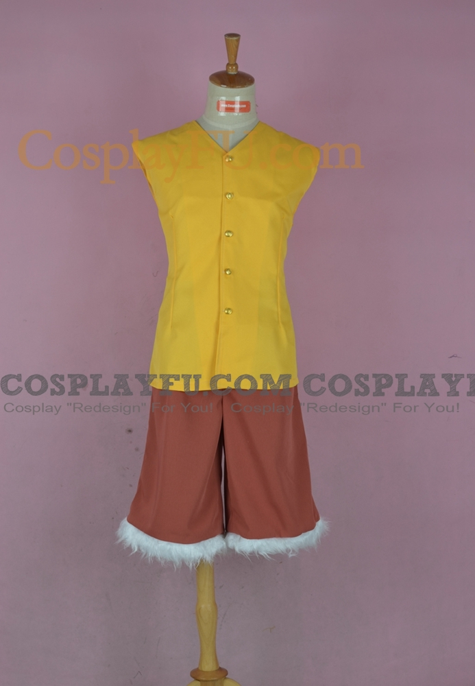 Custom Luffy Cosplay Costume (Yellow) from One Piece ...